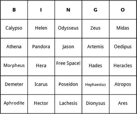 Tje Whitening Day Cr Original 15gr ancient mythology bingo by bingo card template