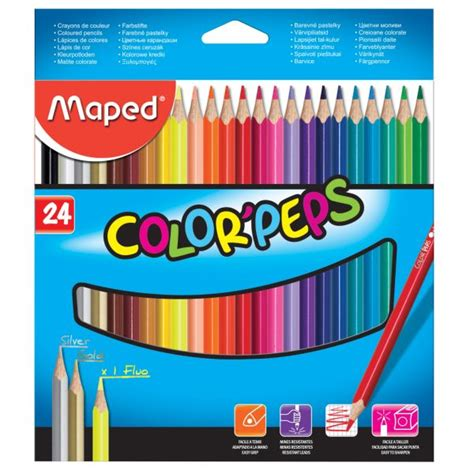 maped 36 color peps cardboard box maped color peps colored pencil set 24 kuwait gifts