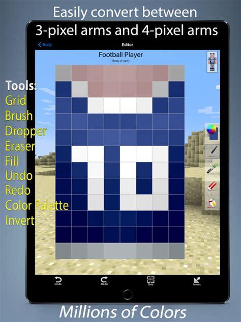 design app skin skin designer for minecraft app voor iphone ipad en