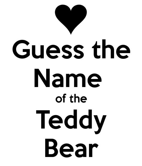 name of guess the name of the teddy poster sharn keep