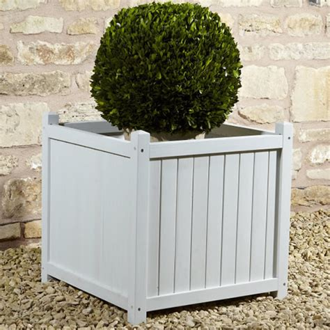 Large Square Garden Planters by Rustic Garden Large Square Planter Blue Garden