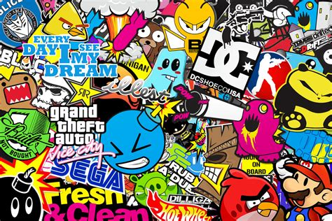 Walpaper Sticker by Jdm Sticker Bomb Wallpaper Image 74
