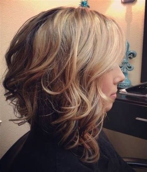 diagonal bob haircut curly hair 25 inspirational medium curly hairstyles for every day