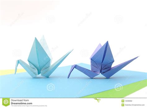 Origami Article - origami birds child paper articles stock photography