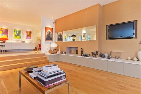 beige accent and storage benches living room eclectic with