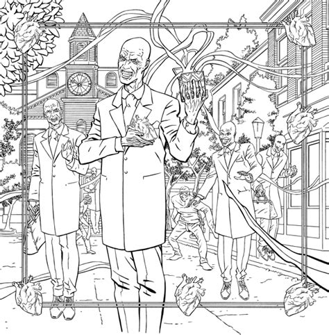 coloring pages buffy the vire slayer buffy the vire slayer big bads and monsters adult