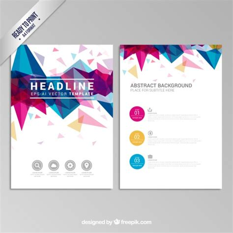 Zumba Resume Samples by Brochure With Colorful Geometric Design Vector Free Download