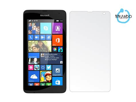 Antiglare Screen Guard Microsoft Lumia 435 brando workshop anti glare screen protector microsoft lumia 535 dual sim