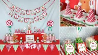 Christmas sweet shop first birthday party via kara s party ideas www