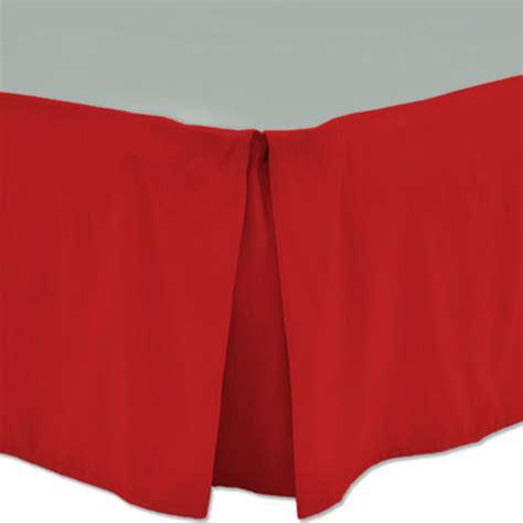 red bed skirt queen bed skirts solid color microfiber with 14 quot drop