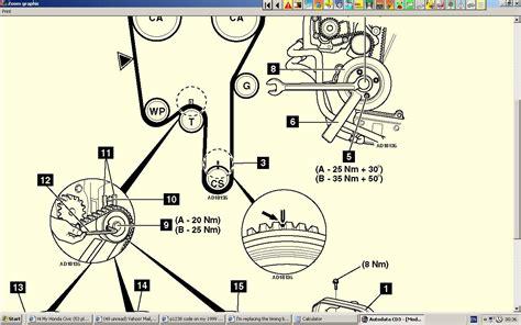 im replacing  timing belt   find  crankshaft marking  time  engine prior