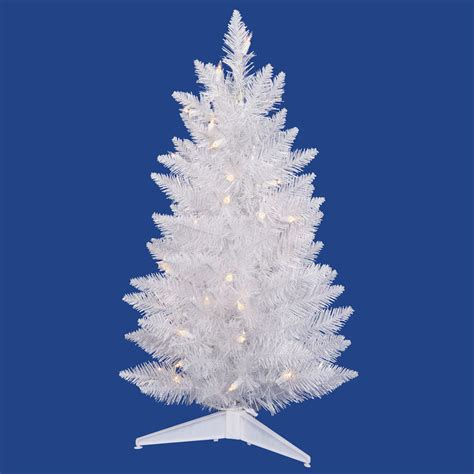 3 foot sparkle white pencil christmas tree multi colored