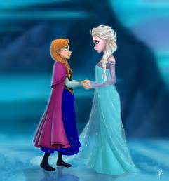 anna elsa frozen fan art 34118411 fanpop