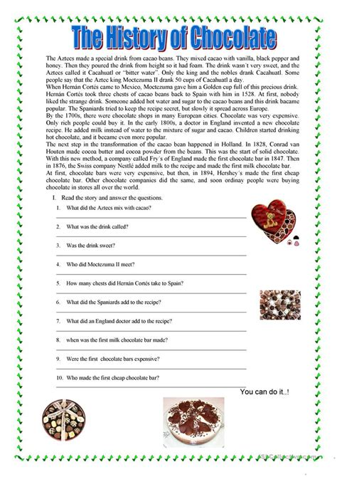 reading comprehension test teachers reading comprehension worksheet free esl printable