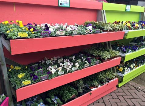 garden centre display benches pin by hannah powell on retail display ideas pinterest