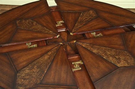 Round Dining Room Table With Leaves by Jupe Table For Sale With Self Storing Leaves Round Dining