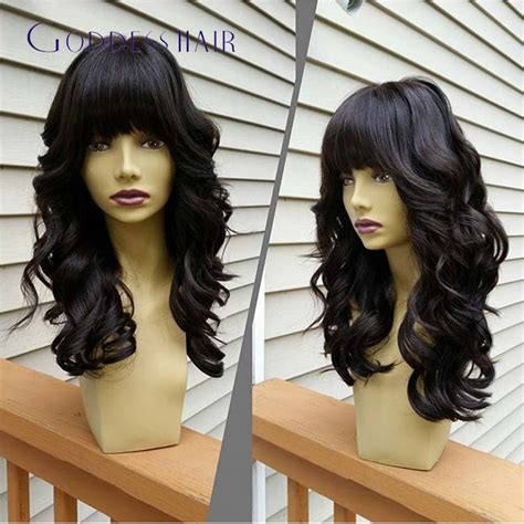 pics of body wave bobcut with bangs shorter hair 150 nsity indian remy hair body wave full lace bob wig