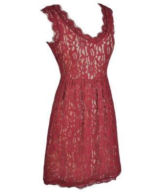 Bustier Zipper Polyester Maroon burgundy lace dress lace dress dress