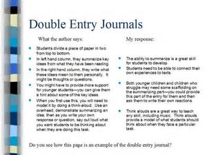 sided journal entry template literacymethods comprehension