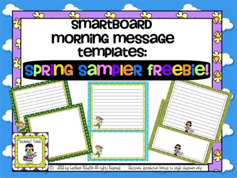 Downeast Teach Spring Is In The Air And So Is A Freebie Free Smartboard Template And Free Smartboard Templates