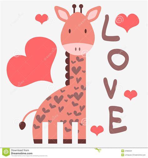 imagenes de jirafas romanticas tarjeta rom 225 ntica con la jirafa