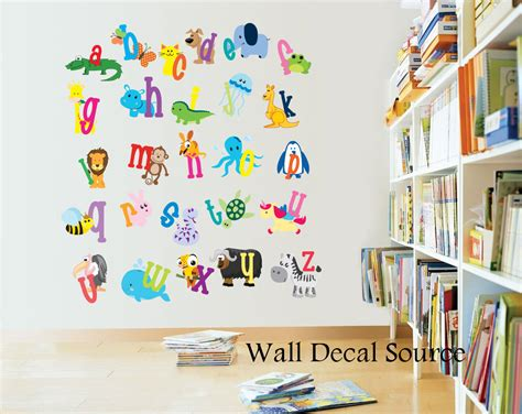 Wall Letter Decals For Nursery with Nursery Decor Alphabet Wall Decals Alphabet Letters For