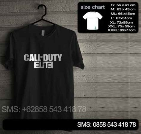 Elite Kaos baju kaos call of duty elite cod02 baju kaos distro