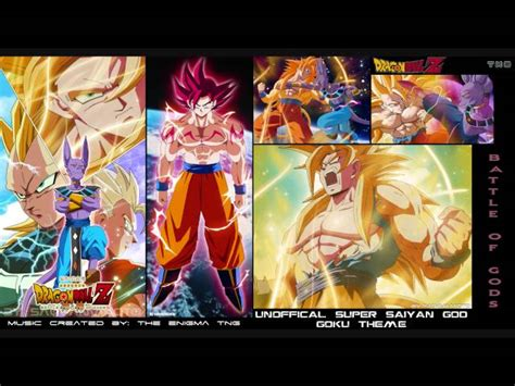 god themes with tone dragon ball z unofficial super saiyan god goku theme the