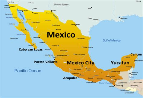 south america map and mexico mexico map showing attractions accommodation