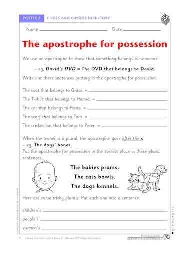 using possessive apostrophes primary ks2 teaching