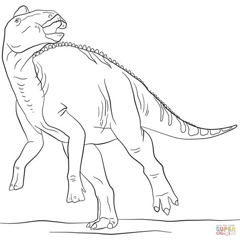 jurassic dinosaurs coloring pages jurassic edmontosaurus coloring page free printable