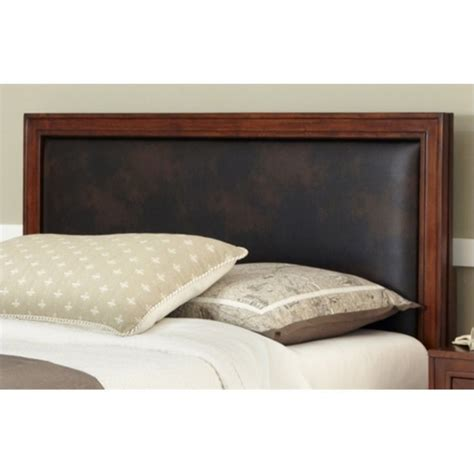 leather headboards queen duet queen panel headboard brown leather inset 5546 x01a
