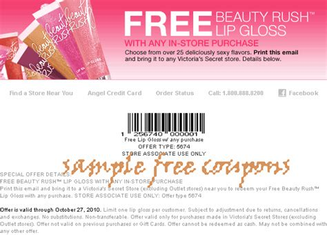 Victorias Secret Gift Card Code - lots of in store coupons for victorias secret