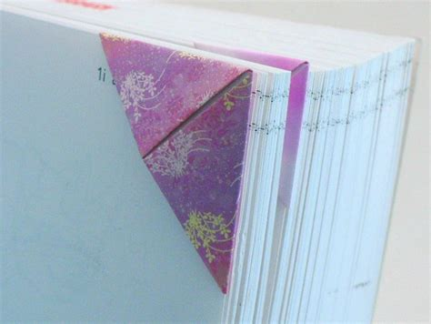 Origami Bookmark Tutorial - triangular origami bookmark donationware craft tutorial