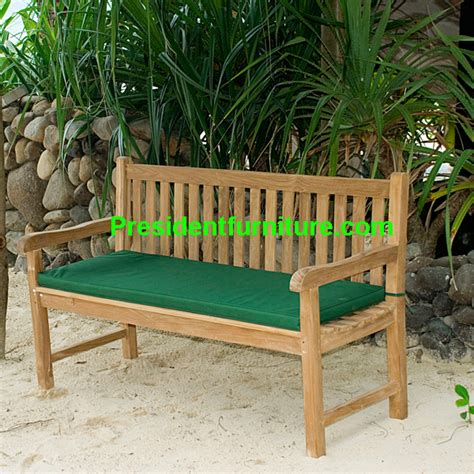 Cushioned Bench With Back Cushion For Back Bench By President Furniture