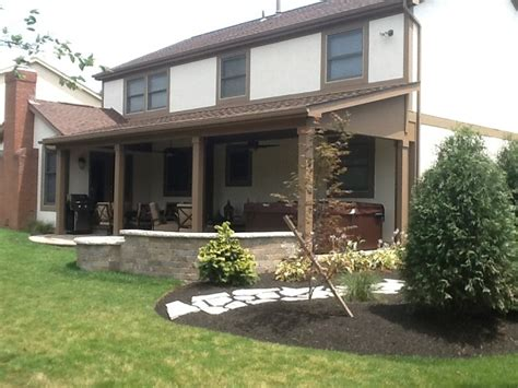 pit for covered porch a new open porch patio and pit in gahanna oh by