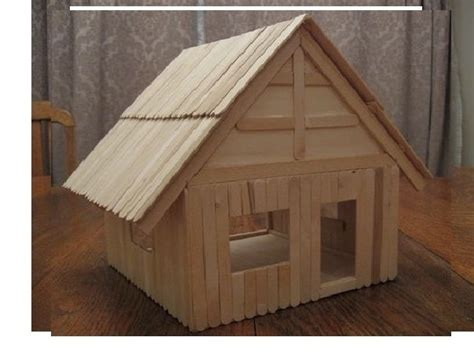 desain rumah dari stik es krim ide miniatur rumah dari stik es krim yang gang