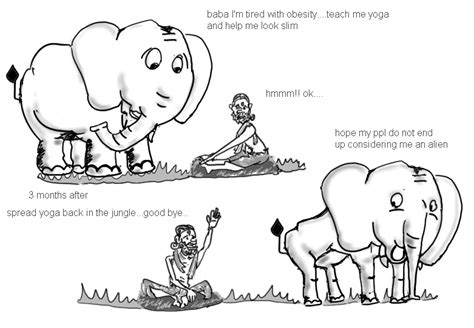 printable elephant jokes yoga and the elephant cartoons doodles quotes