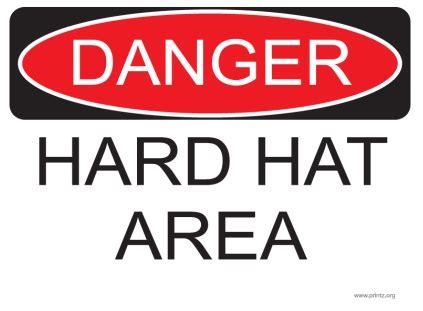 printable hard hat area sign danger do not enter sign