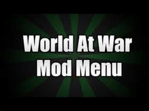 waw mod menu tutorial ps3 call of duty world at war multiplayer mod menu tutorial