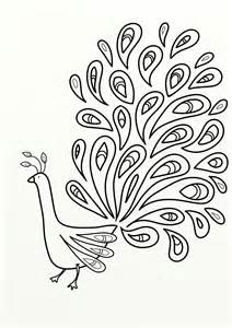 a peacock colouring pages