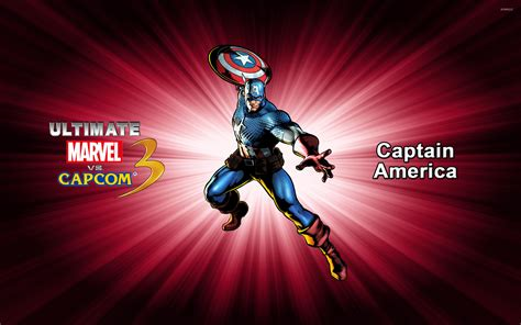 captain america vs wallpaper captain america ultimate marvel vs capcom 3 wallpaper