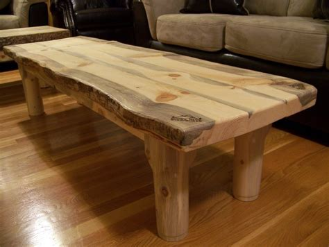 wood slab coffee table design images  pictures