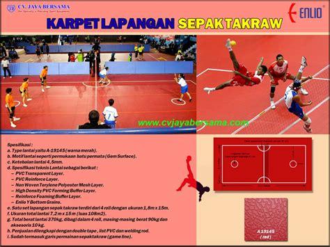 Karpet Lantai Futsal karpet lapangan sepak takraw distributor olahraga