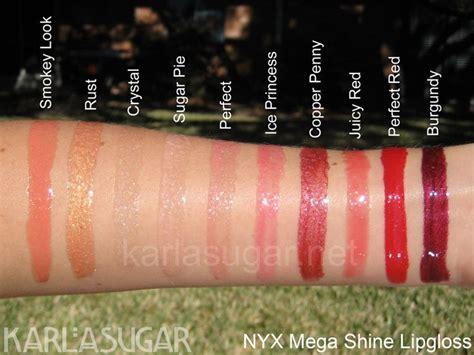 Nyx Megashine Lipgloss nyx mega shine lipgloss nyx swatches