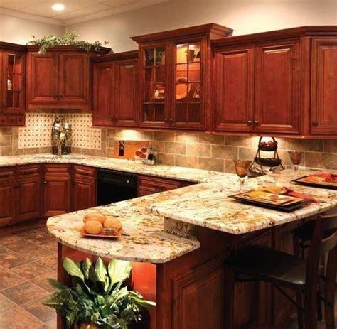 Orange Granite Countertops by Granite Countertop And Tile Backsplash I The