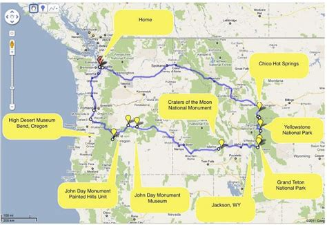 seattle to west yellowstone map pin by nelson rigtrup on montana summer road trip