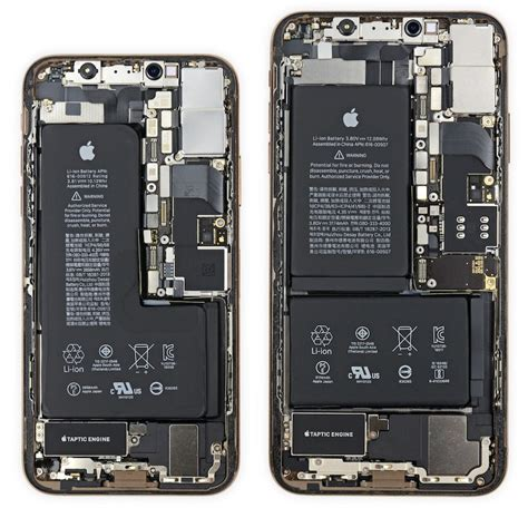 ifixit iphone xs has notched battery and iphone xs max has apple designed power management