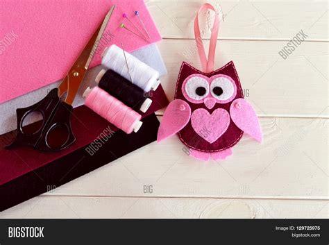 Handmade Owl Decorations - felt owl ornament handmade felt image photo bigstock