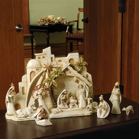 roman inc 13 piece nativity figurine set reviews wayfair